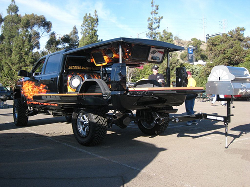 Skinit TV Spot featuring the Carnivore Tailgating Truck ...
